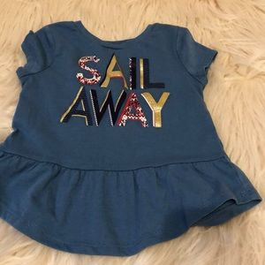 Toddler sail away top
